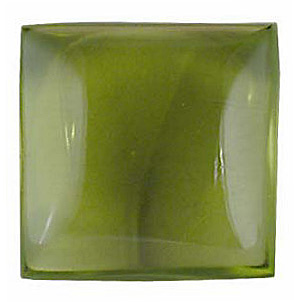 Square Shape Cabochon Peridot Genuine Quality Loose Faceted Gem Grade AA, 6.00 mm in Size