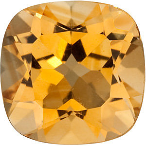 Standard Size Faceted Loose Antique Square Shape Citrine Gemstone Grade A, 12.00 mm in Size, 6.5 carats