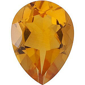 Top Quality Genuine Natural Pear Shape Citrine Gemstone Grade AA, 14.00 x 9.00 mm in Size, 4.25 carats