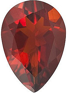 Standard Size Faceted Loose Pear Shape Madeira Citrine Gemstone Grade AA, 10.00 x 7.00 mm in Size