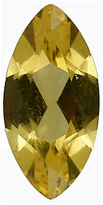 Standard Size Faux Golden Yellow Citrine Gemstone In Marquise Shape Sized 8.00 x 4.00 mm