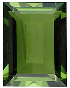Standard Size Faux Green Peridot Gemstone In Cushion Shape Sized 9.00 x 7.00 mm