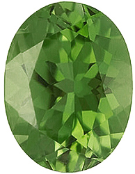 Standard Size Faux Green Peridot Gemstone In Oval Shape Sized 6.00 x 4.00 mm