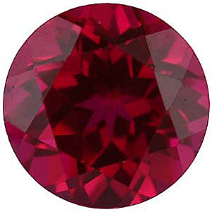 Standard Size Faux Ruby Red Gemstone In Round Shape Sized 1.00 mm