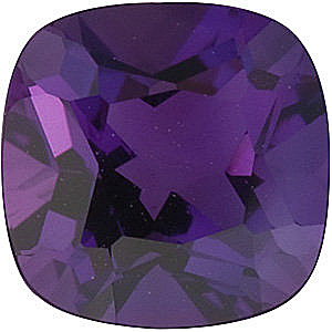 Standard Size Genuine Purple Amethyst Gemstone in Antique Square Shape Grade AAA 5.00 mm in Size 0.5 carats