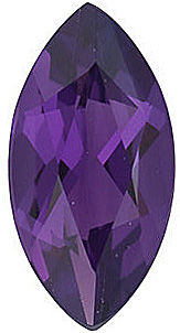 Standard Size Genuine Purple Amethyst Gemstone in Marquise Shape Grade AAA 10.00 x 5.00 mm in Size 0.9 carats