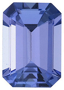 Standard Size Loose Genuine Emerald Shape Tanzanite Gem Grade AA, 6.00 x 4.00 mm in Size, 0.6 Carats