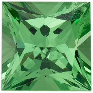 Loose Gemstone  Calibrated Top Quality Princess Shape Tsavorite Green Garnet Grade AA, 4.00 mm, 0.4 carats