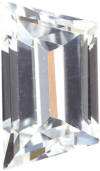 Colorless Cubic Zirconia Loose Faceted Gemstone Trapezoid Shape Sized 5.50 x 3.50 mm