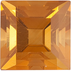 Step Shape Citrine Gemstone Grade AA, 6.00 mm in Size, 1.08 carats