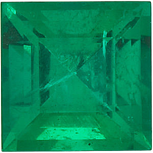 Step Square Genuine Emerald  in Grade AA