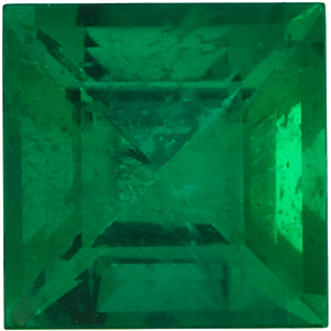 Step Square Genuine Emerald in Grade AAA