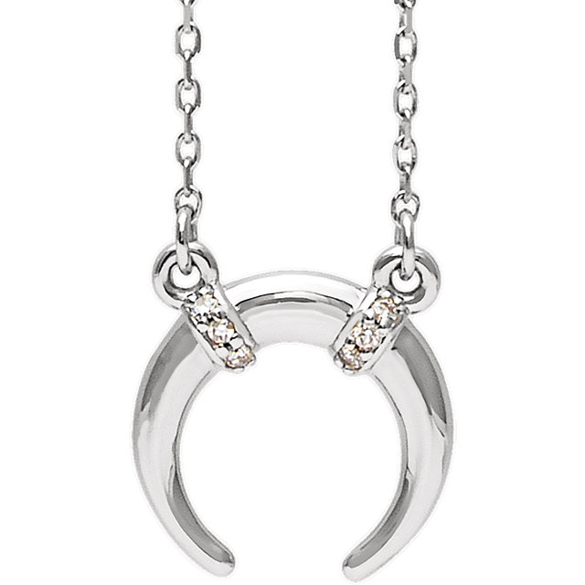 Surprise Her with  Sterling Silver .03 Carat Total Weight Diamond 16-18