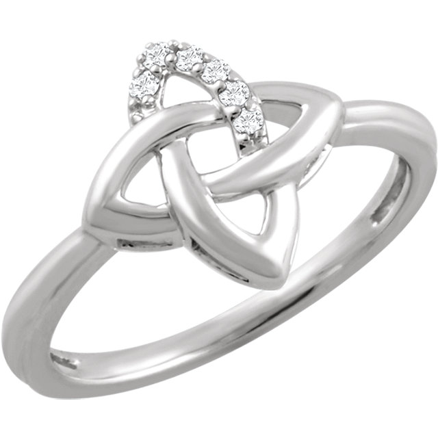 Deal on Sterling Silver .06 Carat TW Diamond Ring