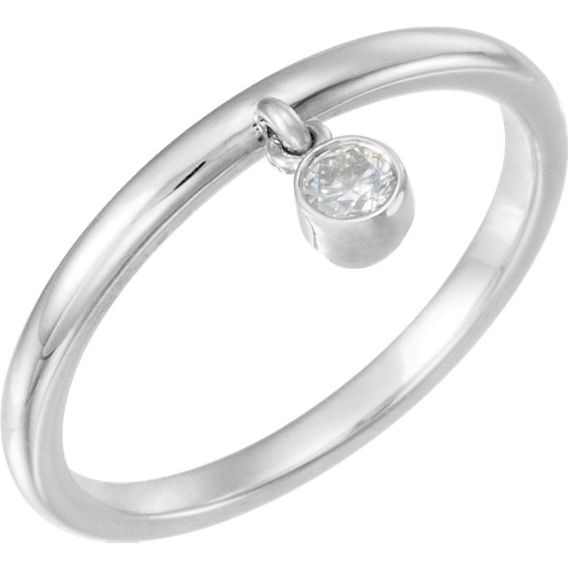Perfect Jewelry Gift Sterling Silver 0.10 Carat Diamond Fringe Ring