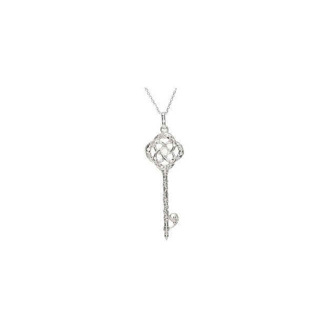 Buy Sterling Silver 0.10 Carat Diamond Vine Key 18