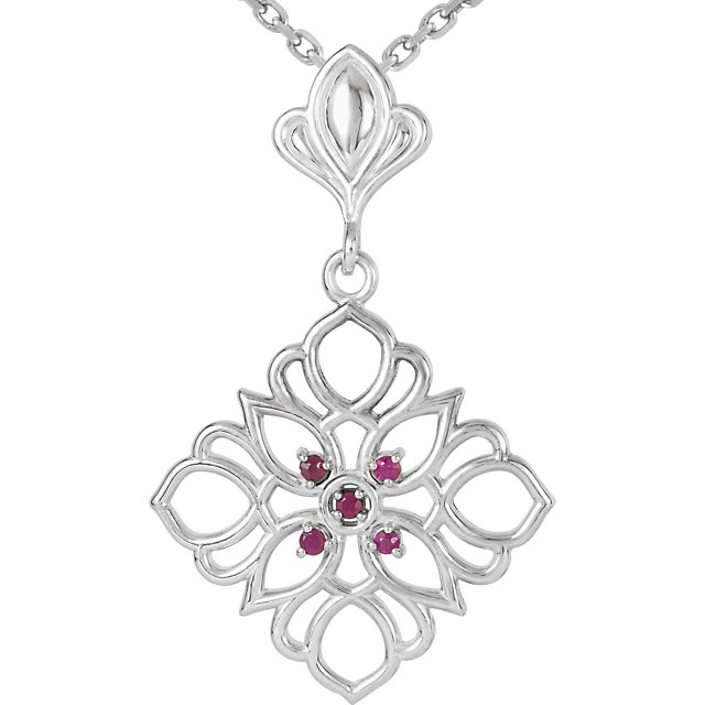 Great Deal in Sterling Silver 1.25 Ruby 18