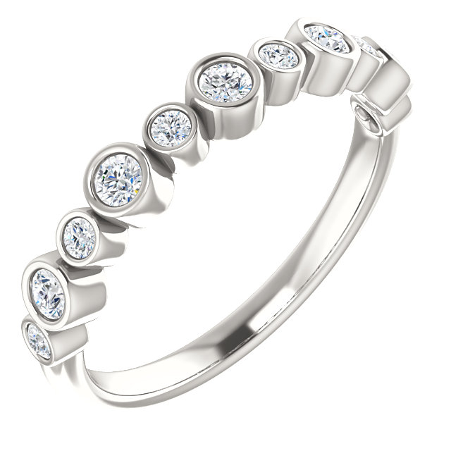Buy Real Sterling Silver 0.33 Carat TW Diamond Ring