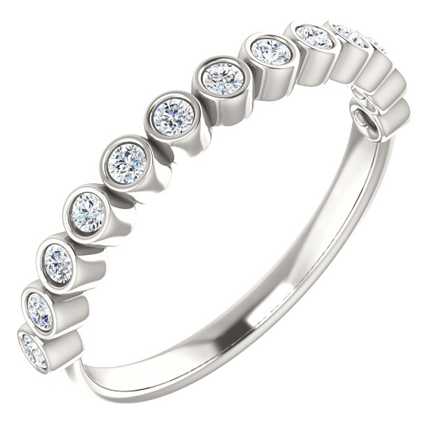 Buy Real Sterling Silver 0.25 Carat TW Diamond Ring