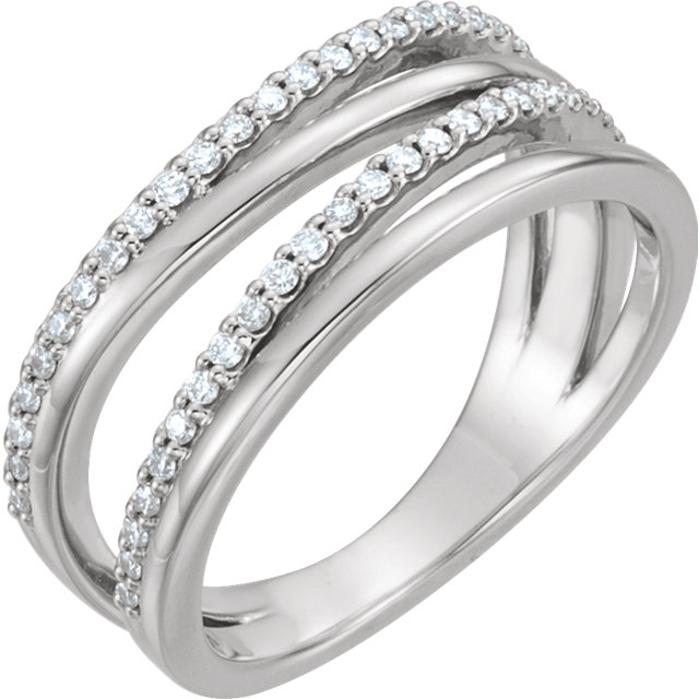 Sterling Silver 0.25 Carat TW Diamond Ring