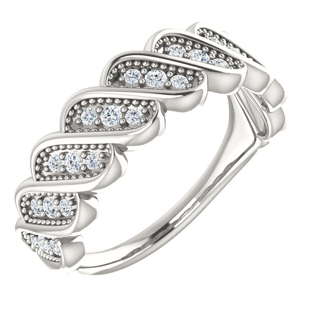 Buy Real Sterling Silver 0.25 Carat TW Diamond Stackable Ring