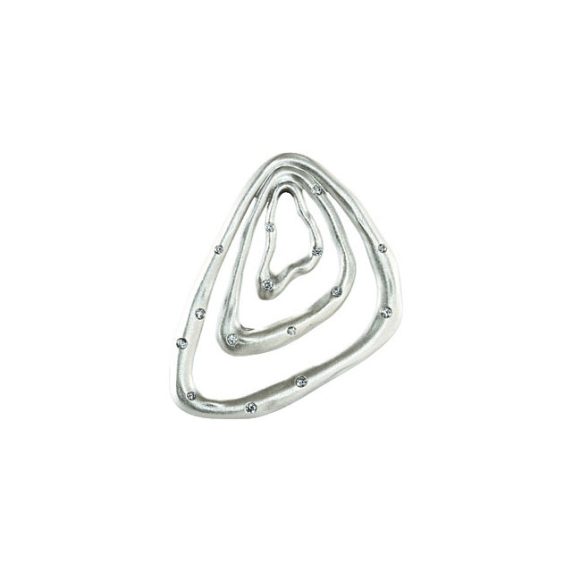 Sterling Silver 0.20 Carat Diamond Pendant