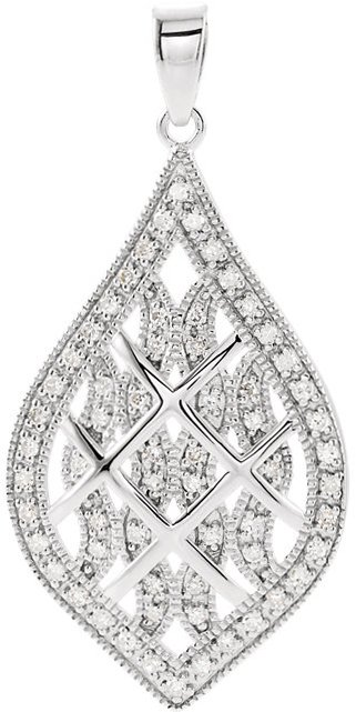 Sterling Silver 1/5 Carat Total Weight Diamond Pendant