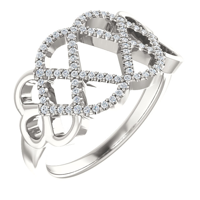 Perfect Jewelry Gift Sterling Silver 0.20 Carat Total Weight Diamond Ring