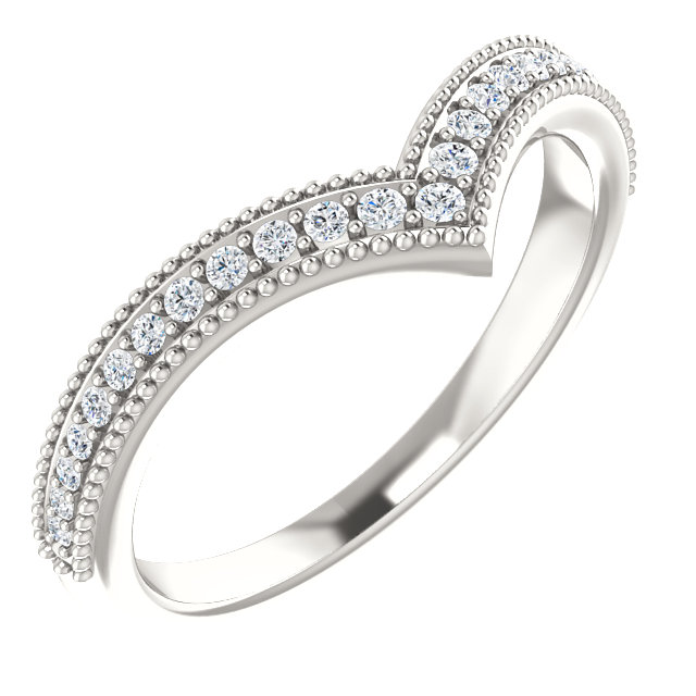 Great Deal in Sterling Silver 0.17 Carat Total Weight Diamond Stackable