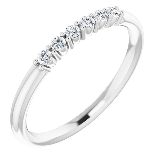 Genuine Diamond Ring in Sterling Silver 1/8 Carat Diamond Stackable Ring