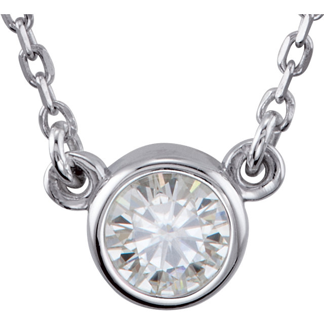 Sterling Silver 4.1mm Round Forever Classic Moissanite 18