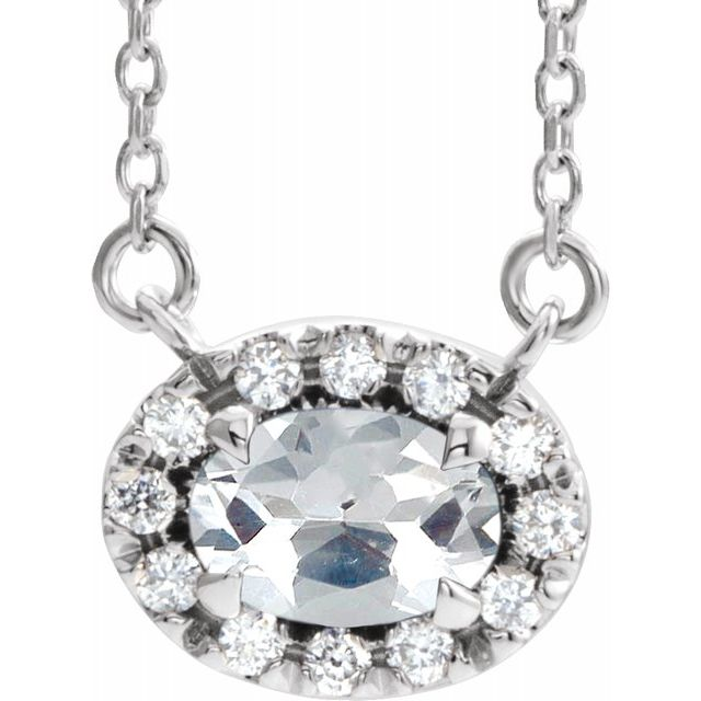 Real Diamond Necklace in Sterling Silver 5/8 Carat Diamond 16