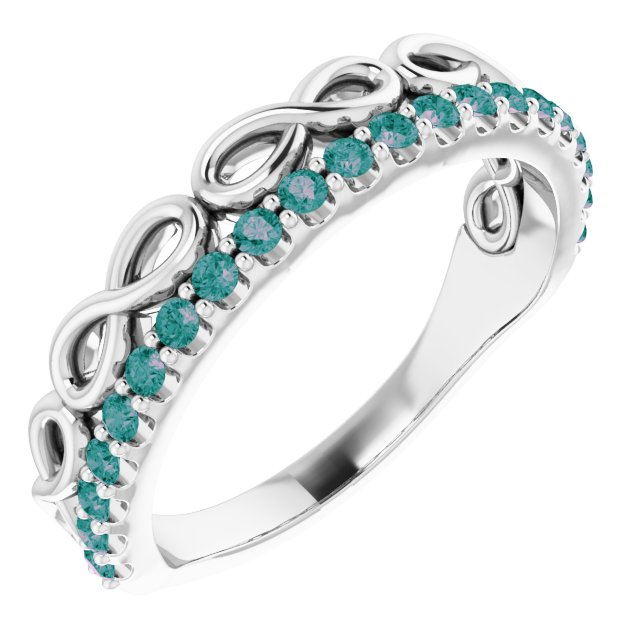 Genuine Alexandrite Ring in Sterling Silver Alexandrite Infinity-Inspired Stackable Ring