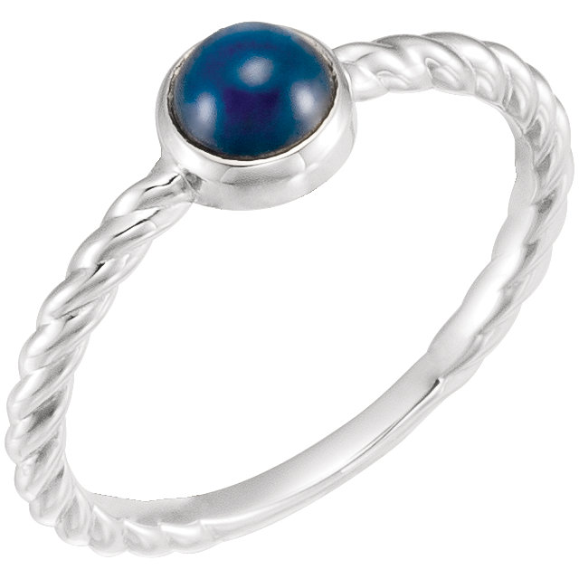 Great Gift in Sterling Silver Blue Sapphire Ring