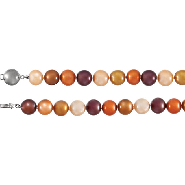 Sterling Silver Freshwater Cultured Dyed Chocolate Pearl 18