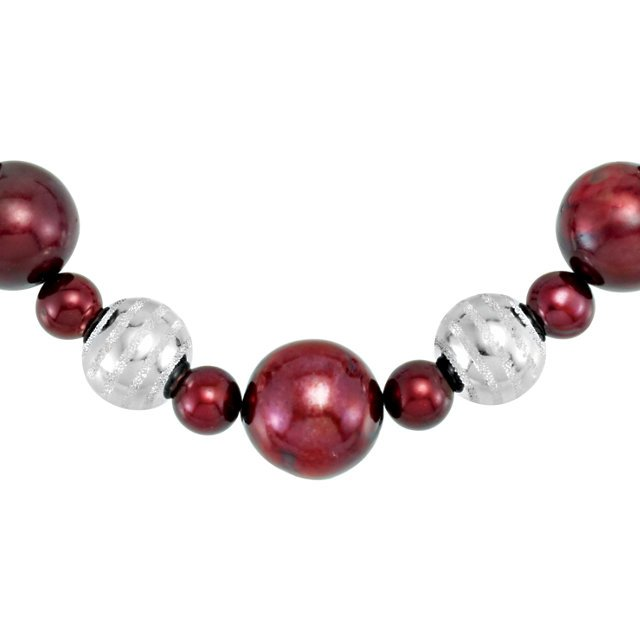 Sterling Silver Freshwater Cultured Pearl 18
