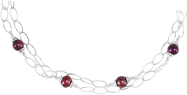 Sterling Silver Freshwater Cultured Pearl 38