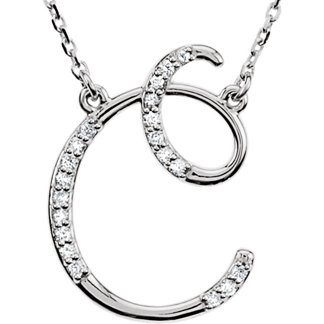 Appealing Jewelry in Sterling Silver Letter