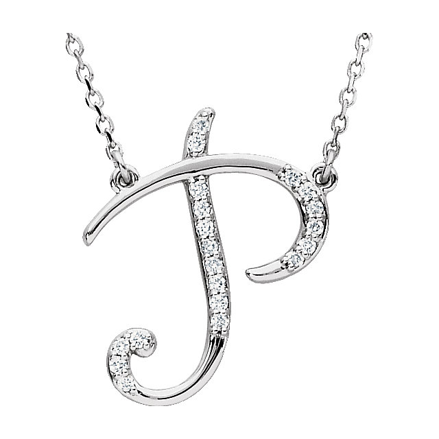 Contemporary Sterling Silver Letter