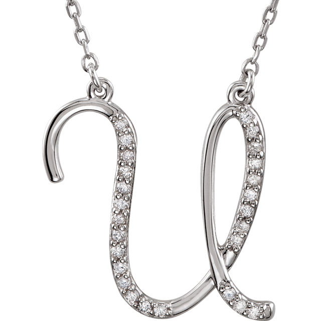 Great Gift in Sterling Silver Letter