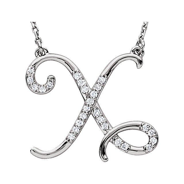 Chic Sterling Silver Letter