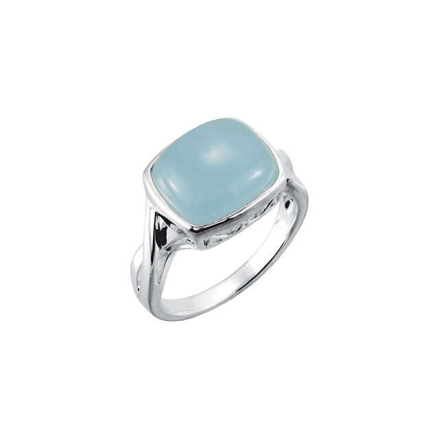 Buy Real Sterling Silver Milky Aquamarine Ring