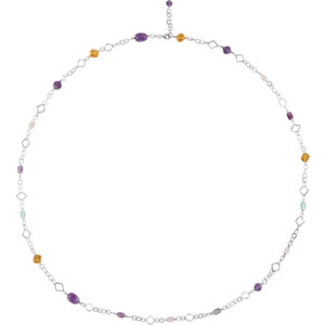 Sterling Silver Multi-Gemstone 40