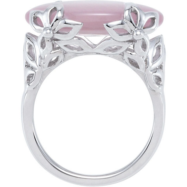Sterling Silver Pink Quartz Ring