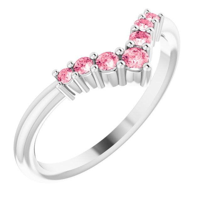 Pink Tourmaline Ring in Sterling Silver Pink Tourmaline Graduated