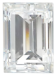 Straight Baguette Shape Diamond SI2-SI3 Color - VS Clarity, 1.75 x 1.50 mm in Size