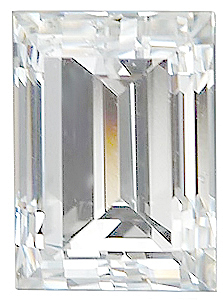 Straight Baguette Shape Genuine High Quality Loose Diamond SI2-SI3 Color - VS Clarity, 1.25 x 1.00 mm in Size