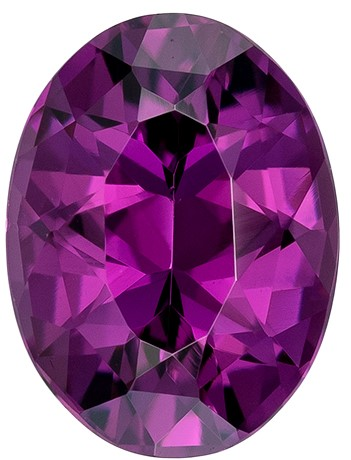 Striking Grape Garnet Oval Shaped Gemstone, 1.74 carats, 8.2 x 6.2mm - Truly Stunning