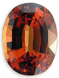 Striking Malaia Garnet Gemstone for SALE - Rich Orangish Red, Oval Cut, 5.21 carats