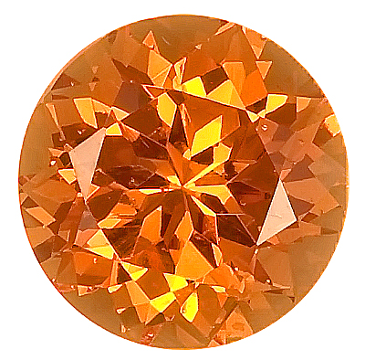 Striking Orange Unheated Spessartite Garnet Gemstone Best Price! Round Cut, 9.5 x 9.4 mm, 4.71 carats
